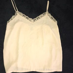 Forever 21 cream lace detail camisole